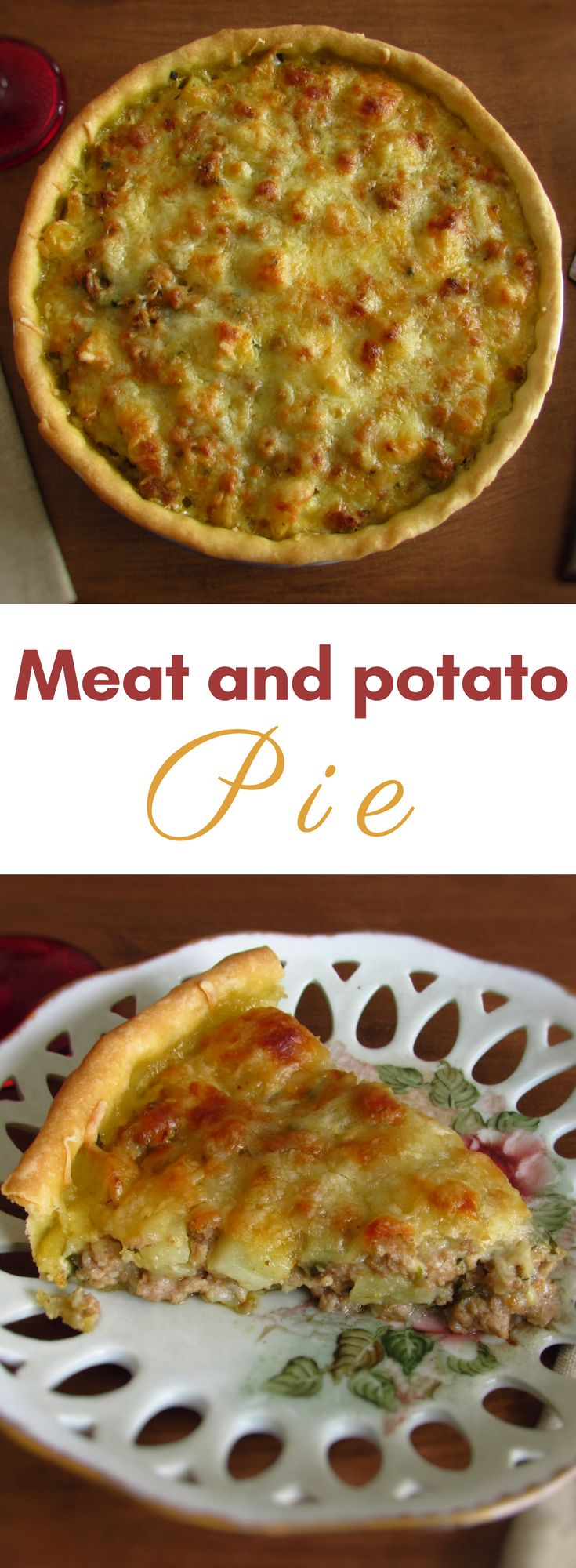 Meat and potato pie | Food From Portugal. Do not know what to do with the minced meat you have in the fridge? Prepare this delicious meat and potato pie recipe! It's simple, quite tasty and has excellent presentation! Bon appetit!!! #recipe #pie #meat