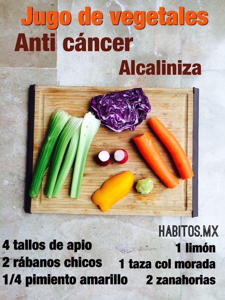 Licuado de vegetales anti-cáncer