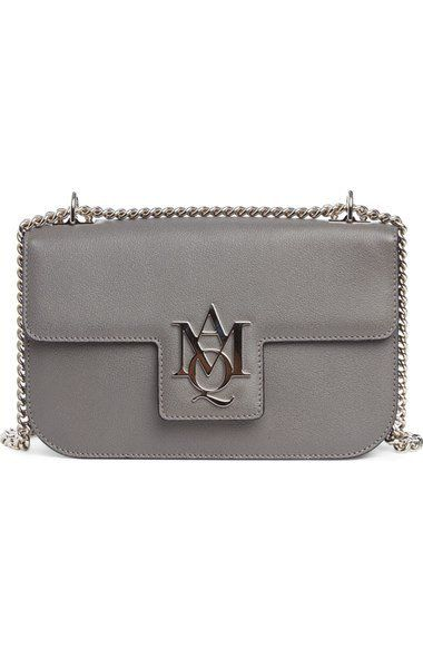 'Medium Insignia Chain' Calfskin Leather Satchel