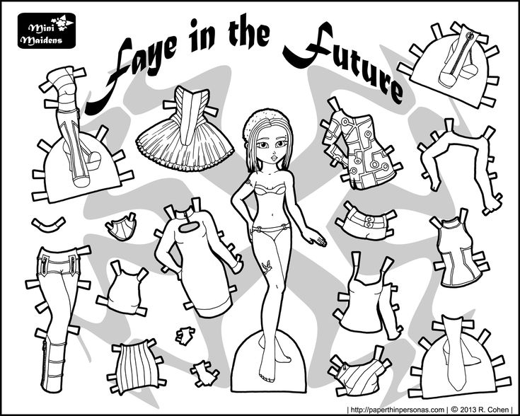 52 best Mini Maidens Paper Dolls images on Pinterest Paper dolls