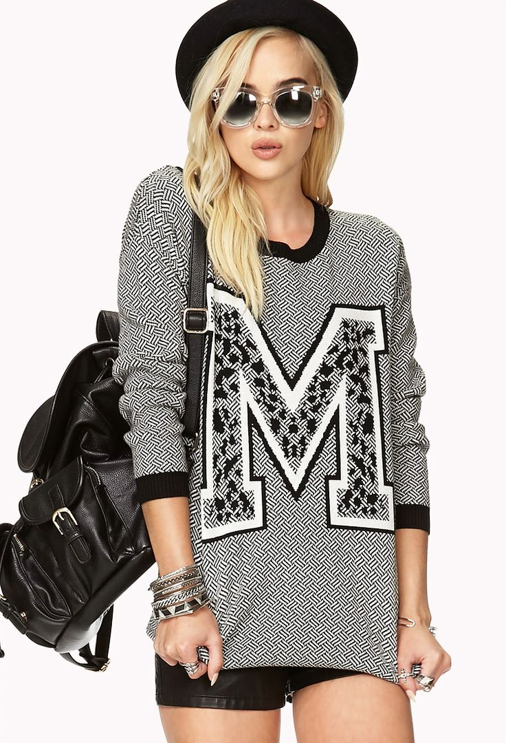 Sporty Varsity Sweater | FOREVER21 M for must have. super cute