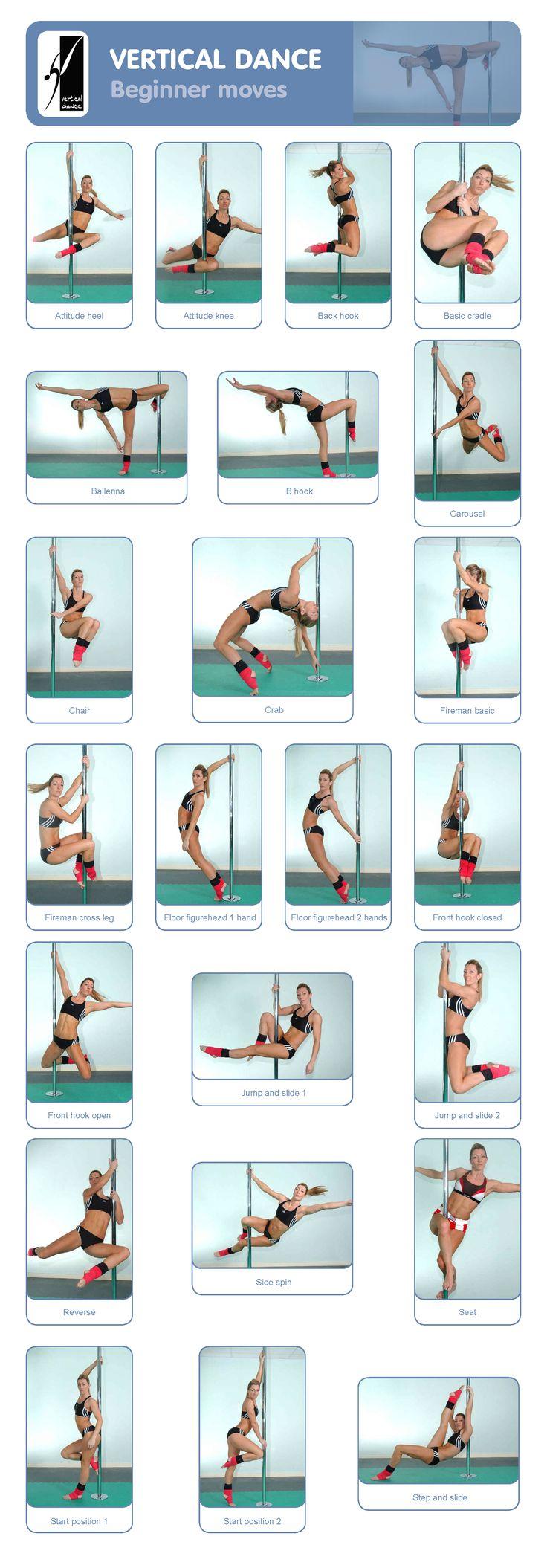 Pole Dance Training - Beginner moves #pole #polefitness #polemoves