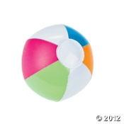 $6.50 - 12Inflatable Mini Spring Brights Beach Balls