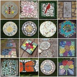 Make your own mosaic stepping stone