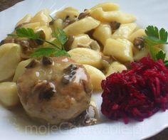 Klopsy wieprzowe w sosie pieczarkowym add hp souce first fry onion and garlic before adding to meat