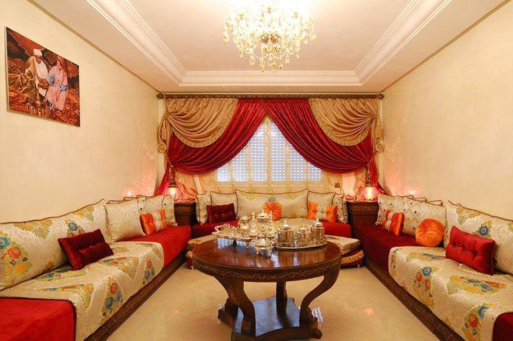 salon marocaine salones marroquies pinterest salons. Black Bedroom Furniture Sets. Home Design Ideas