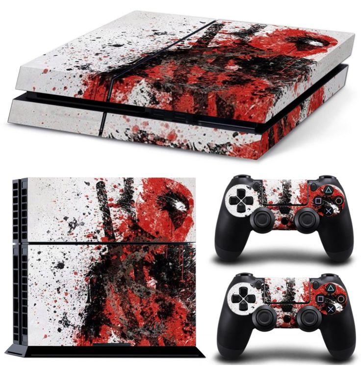 Deadpool Skin For Your Ps4 Controller Amp Console Deadpool