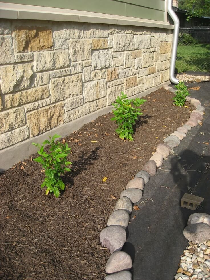 Simple Landscaping Front Yard Rock