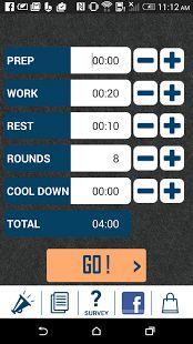 HIIT interval training timer- screenshot thumbnail