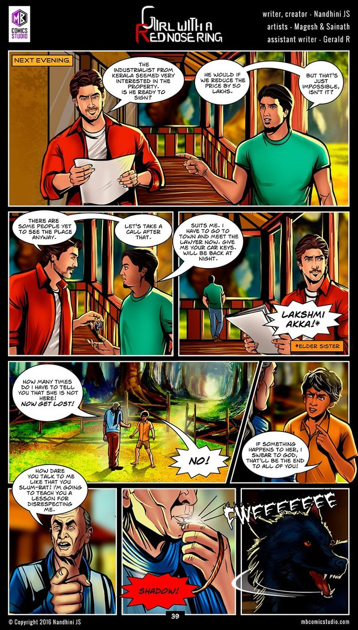 Page 39  Nandhini's 'girl With A Red Nose Ring'ics (read