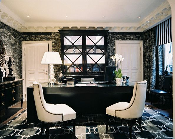 1000 images about black white hollywood glam on for Beautiful office space design