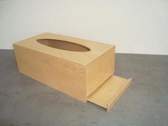 Wood tissue box. Tissue napkin holder. Wooden napkin box. Wooden napkin holder