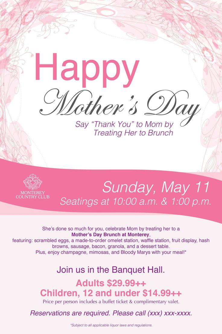 mother u0026 39 s day brunch poster flyer template