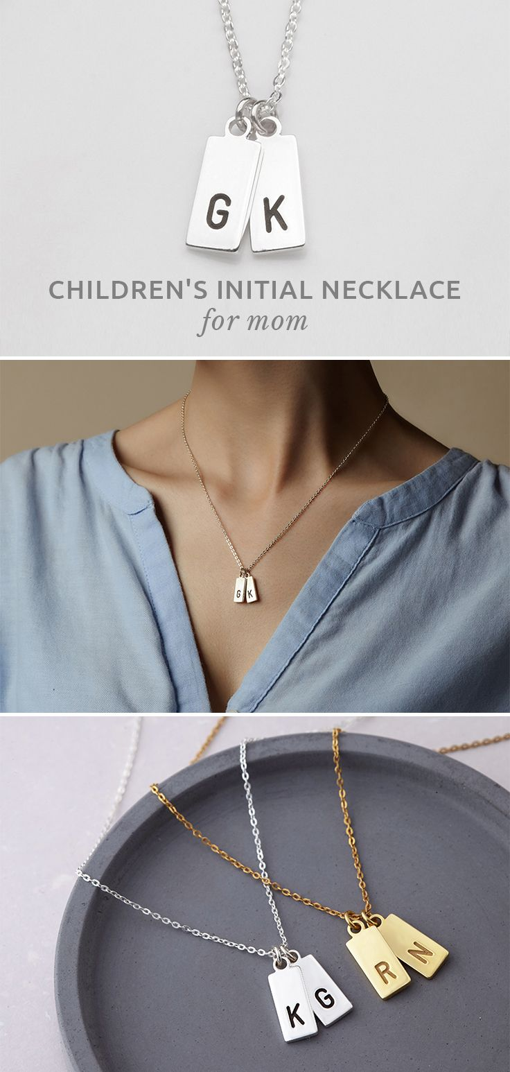 Children S Initial Necklace Small Initial Necklace Kids Initial Necklace For Moms Necklace W Gifts For Mom Childrens Initial Necklace Best Gifts For Mom