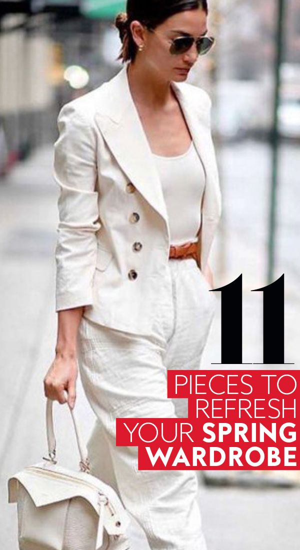 You'll be able to wear these pieces over and over again. #springtrends #spring2018 #springwardrobe #2018trends #officewardrobe