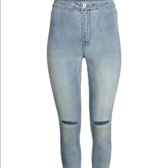 H&m high waist ripped jeans size 25 New in bag with tags - light denim H&M Pants Skinny