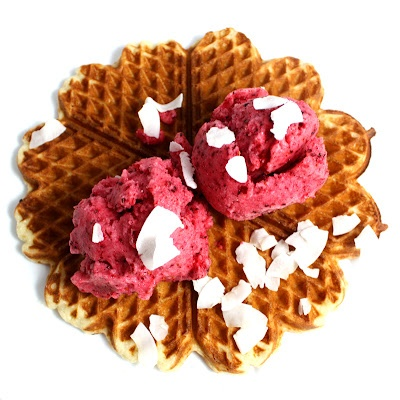 Hearty Coconut Waffles - Jane Johansen's grandmother baked waffles. And she was allowed to eat as they came steaming out of the waffleiron. Real iron. Butter, sugar and jam. Sticky hands, smiles and a smell of waffles who lived in the house.
