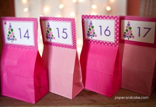 Paper and Cake   Advent Calendar FREE Download   http://www.paperandcake.com