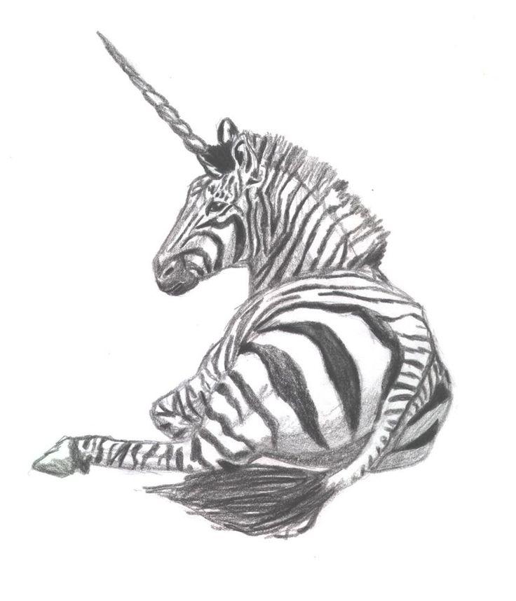 Zebra Unicorn by lilDose Zebra zeichnung, Zeichnungen