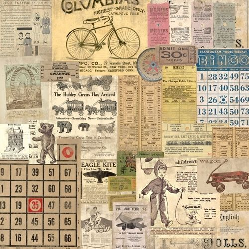 Marion Smith NEVER GROW UP Scrapbooking Paper Never Never