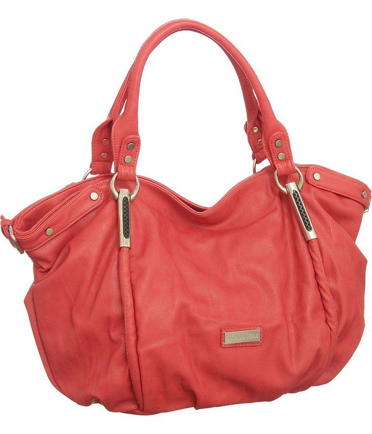 Purse Boutique: Coral Oversized Limited Edition Vitalio ''Alicia'' Hobo, Purses