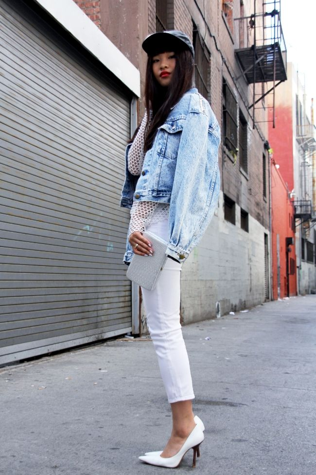 Canadian tux with a white-out twist.