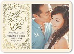 Flat Wedding Paper Divas Save the Date Cards | Shutterfly