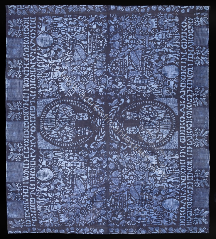 This is an Adire piece by the Yoruba Tribe. This piece is called 'Jubilee'.