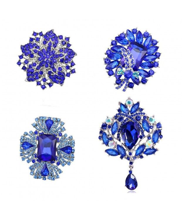 fe221e927b6 4pcs Big Blue Crystal Silver Plated Brooch for Wedding Bouquet C412M6OYOCT  | Brooches & Pins & Fashion Jewels | Pinterest | Brooch pin, Brooch and  Jewels