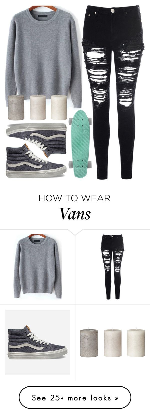 """!"" by king-alysa on Polyvore featuring Glamorous and Vans"