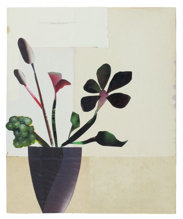 Anke Roder 'Autumn Flowers' 2015 collage 33 x 27 cm