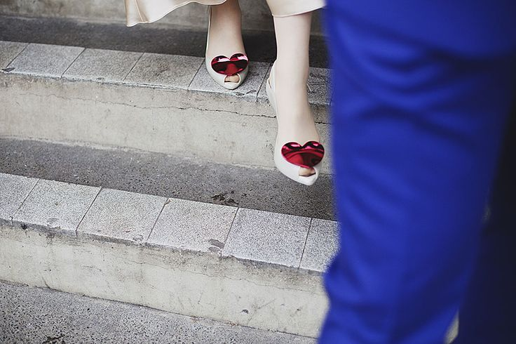 Creative wedding photography // Bethnal Green wedding // Those Vivienne Westwood wedding shoes // By Inta Photography // http://intaphotography.com