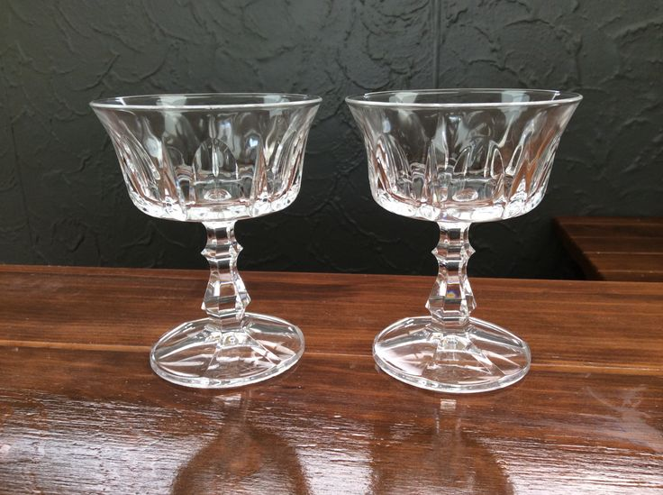 Crystal dessert bowls? I think they are the wrong shape for champagne.bargain $3 each