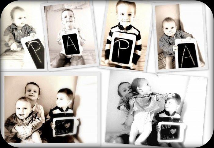 Schönes Foto als Geschenk für den Papa. Noch mehr Ideen gibt es auf www.Spaaz.de