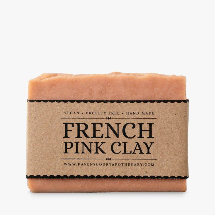 Handmade vegan soap with French pink clay #clay #soap #vegan #natural #ravenscourt