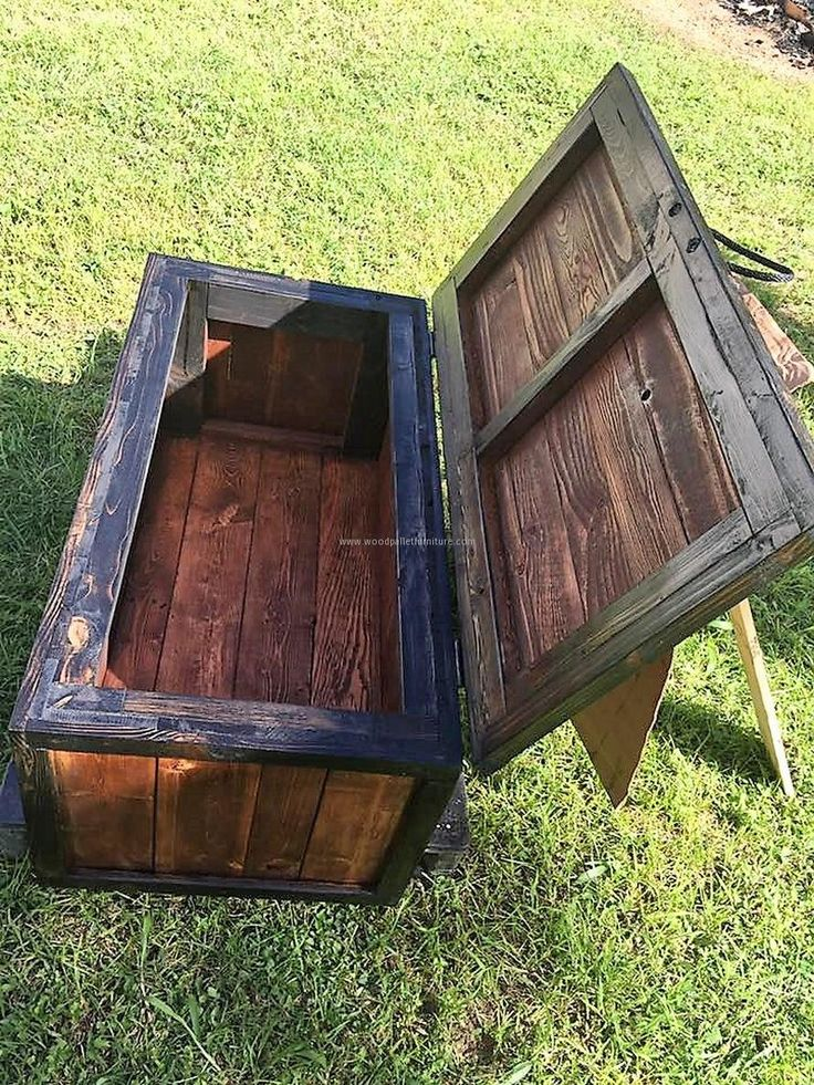 turning pallets into furniture. wood pallet storage chest turning pallets into furniture e