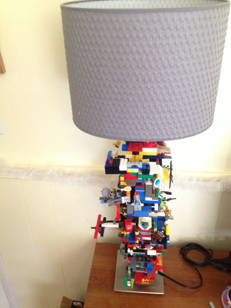 DIY LEGO hack tutorial for the Ikea alang lamp - how much would our kids love this!