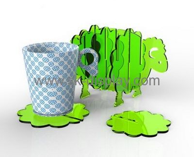 Acrylic display stand manufacturers customize mug pad coaster for cups SOD-128