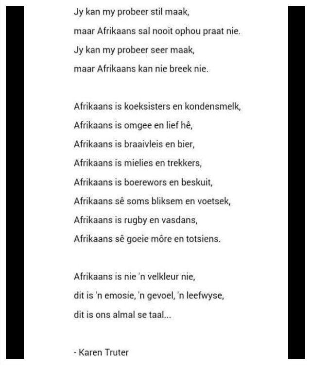 My Taal:AFRIKAANS