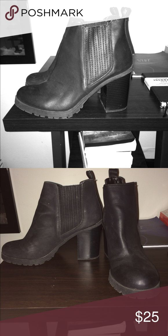 Chelsea boot heels Got them from target, wore only a couple times but not even enough wear them out or scratch and wear out the bottom of the heel, size 9 and SUPER comfortable!! I just never wear them Shoes Ankle Boots & Booties
