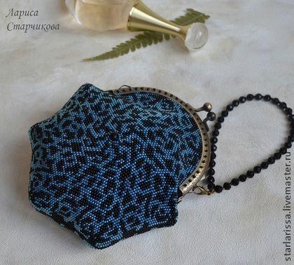 Женские сумки ручной работы. Ярмарка Мастеров - ручная работа маленькая бисерная сумочка-кошелек. Handmade.