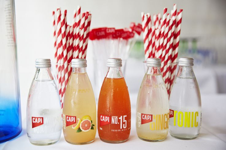 Too many choices of delicious and all natural CAPI Sparkling Mixers.