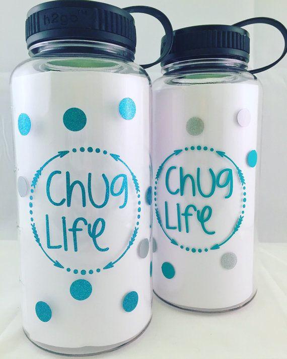 Chug Life Water intake jug gym bottle 34OZ by MandJCollective