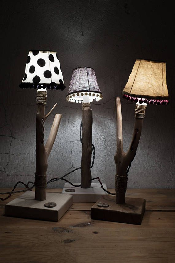 Natural Branched  Table Light  table lamp Hand crafted lamp