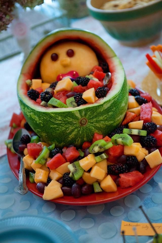 Baby carriage fruit display