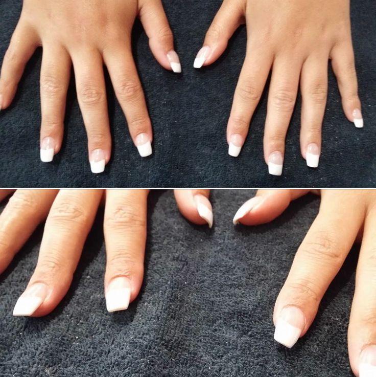 Acrylic infills with French shellac - stunning nails at Individual Hair Care