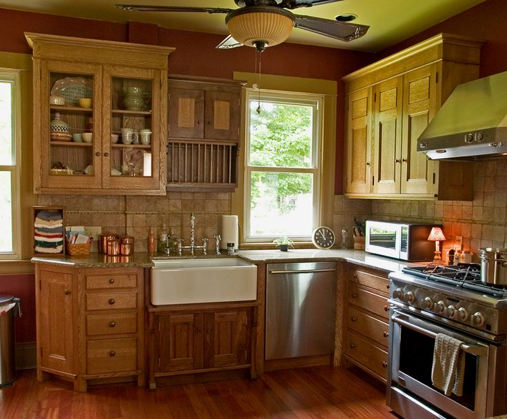 54 best Oak Kitchen Cabinets images on Pinterest | Oak kitchens ...