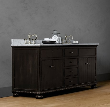 Photo Image French Empire Double Vanity Sink Includes sink top base and basin