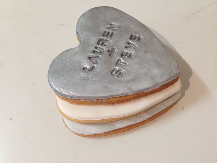 Heart Stamped Cookies Sweetly Baked Perth