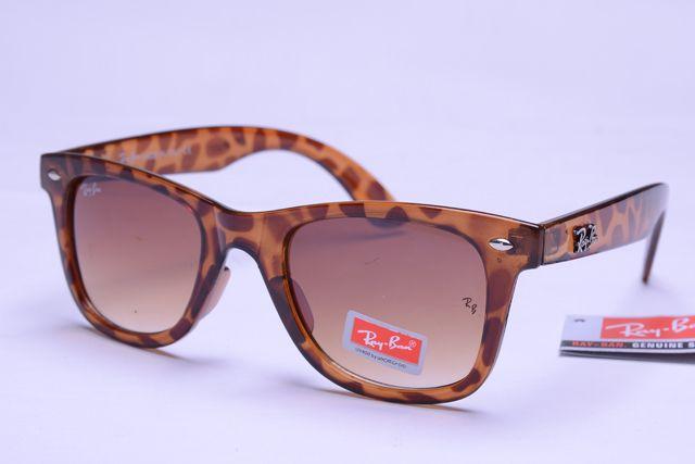 Ray-Ban Wayfarer 2140 Leopard Grain Frame Tawny Lens RB1095